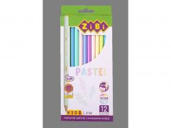 Олівці кольорові Pastel, 12 шт., KIDS LINE ZB.2470 ТМZiBi