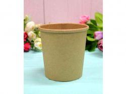 Коробка для квітів кругла без кришки крафт 10*7,5*10см. ТМУПАКОВКИН