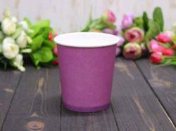 Коробка для квітів кругла без кришки 10*7,5*10см. кол. Фіолетовий ТМУПАКОВКИН
