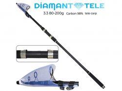 Карпове вудилище телескоп 3.3м 80-200г. карбон SF24080 ТМDiamant