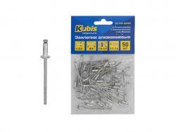 Заклепки алюмінієві 3.2*10 мм (товщина 4-6 мм), 50 шт 01-04-3210 ТМKubis