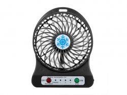 Міні вентилятор портативний Snowflake fan B-Black 737534 ТМKMT