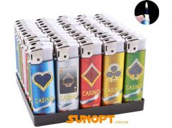 Запальничка пластикова (Звичайне полумя) Casino №1209-6 ТМSunOPT