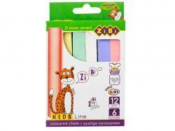 Крейда кольорова квадратна 12 шт., KIDS Line ZB.6703-99 ТМZiBi