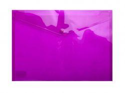 Папка-конверт А4 на кнопці, прозора, фіолетовий BM.3926-07 ТМBuromax