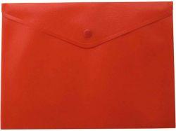 Папка-конверт А5 на кнопці, матова, червоний BM.3935-05 ТМBuromax