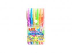 Набір ручок гел., прогум. грип, 6кол, Pastel, ГР55 ТМУМКА