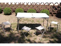 Стол-чемодан4 стула (ШхВхД): 60*75*120 см. 6001 ТМА-ПЛЮС