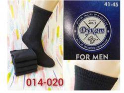 Шкарпетки чоловічі високі чорні (12пар/уп) р.41-45 арт.014-020 ТМДукат