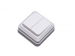 Вимикач 2-клавішний накладний білий ВW-1002 ТМSIRIUS