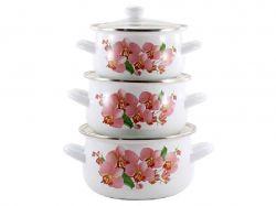 Набір ем. посуду 3-х предм. Орхідея 1 Рожева 2,0/3,0/3,5 л 1W ТМZAUBERG