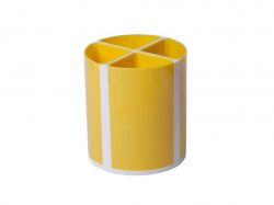 Підставка для пишучого приладдя ТВІСТЕР жовта, 4 відділення ZB.3003-08 ТМZiBi