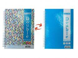 Книга для нотаток DOUBLE А5, 96арк. кл., блакит BM.24571101-14 ТМBuromax