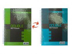 Книга для нотаток DOUBLE А5, 96арк. кл., коричн BM.24571101-25 ТМBuromax