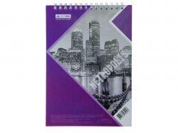 Блокнот на пруж. METROPOLIS, А-5, 48л., # фіолет BM.24545101-07 ТМBuromax
