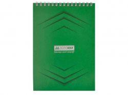 Блокнот на пруж. А-5, 48арк. Monochrome JOBMAX # зелений BM.2474-04 ТМBuromax
