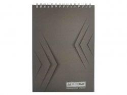 Блокнот на пруж. А-5, 48арк. Monochrome JOBMAX # сірий BM.2474-09 ТМBuromax