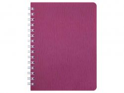 Книжка записн. на пруж. BARK А6, 60арк. # малиновий BM.24654154-29 ТМBuromax