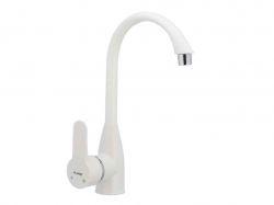 Змішувач для кухні LEON-011 White (без підводки) ТМPLAMIX