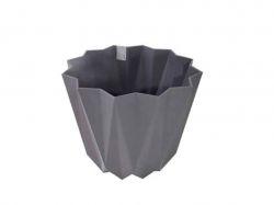 Горщик для квітів PRIZMA (15,5х27см) 2,25л (антрацит) ТМELIF PLASTIK