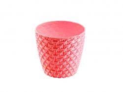 Горщик для квітів ВЯЗКА (11,5х10,5см) 0,75л (бордо) ТМELIF PLASTIK