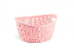 Кошик овальний вязка (20х16х10,5см) 1,5л (ніжно-рожевий) ТМUCSAN