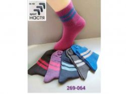 Шкарпетки жіночі з полосою (12 пар/уп) р. 36-40 арт. 269-064 ТМНастя - Картинка 1