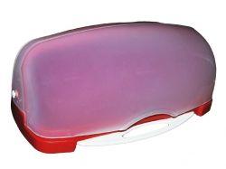 Хлібница пластикова з кух. дошкою 480*175*300мм (червона) ТМ КОНСЕНСУС