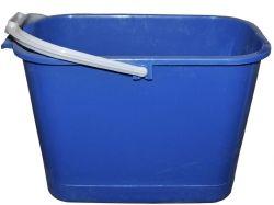Відро пл. 11л прямокутне для прибирання (синє) ТМ КОНСЕНСУС