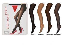Колготи капронові CLASSIC 40 DEN (4р.) (Chocolate) ТМ Lady Sabina