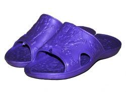 Тапочки пляжні дитячі (6 пар) ГубкаБоб (3035р.) фіолетові ТМ CROSS