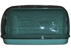 Хлібниця пластикова маленька 330*255*175мм бірюзова ТМ КОНСЕНСУС