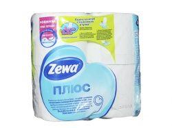 Туалетний папір Плюс (білий), 2 шари, 4 рулона ТМ Zewa