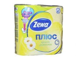 Туалетний папір Плюс Ромашка (жовтий), 2 шари, 4 рулона ТМ Zewa