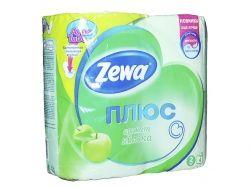 Туалетний папір Плюс Яблуко (зелений), 2 шари, 4 рулона ТМ Zewa