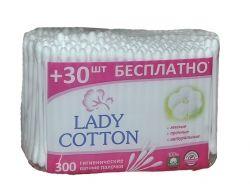 Ватні палички 300 шт (пе пакет) ТМ LADY COTTON