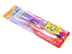 Зубна щітка середня (Zig Zag Plus) 21 Безкоштовно ТМ COLGATE