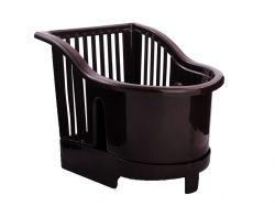 Сушарка пластикова для столових приладів 17*13*14см 16709 коричневий ТМ АЛЕАНА