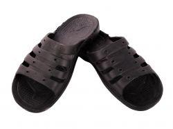Тапочки пляжні чоловічі (6 пар) ЕКО , чорні (4046р.) ТМ CROSS