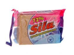 Мило господарське коричневе (рифлене) 72 % 180 г ТМ СИЛА