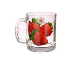 Чашка скляна 300мл Полуниця 04с1208 ТМ ОСЗ