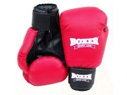 Рукавицi боксерскi Елiт 8oz (кожвiнiл 0,8 мм) червонi. ТМ Boxer Sport Line