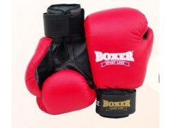 Рукавицi боксерскi 6oz (комбiнованi 0,81 мм) червонi. ТМ Boxer Sport Line