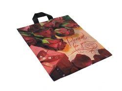 Пакет петля Троянда 400х430мм (25шт) ТМ DIOR