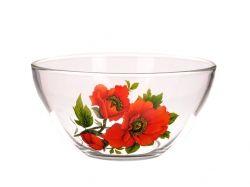 Набір салатників скляних Монарх 1/3(3*800мл) Мак 09с1448 ТМ ОСЗ