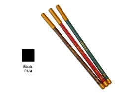 Олівець д/губ та очей дерев яний ML180 №01 чорний ТМ АСТРА КОСМЕТИК
