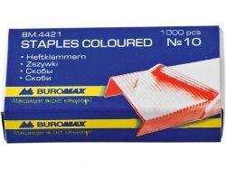 Скоби №10, кольорові, 1000 шт. BM.4421 ТМ BUROMAX