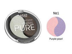 Тіні для повік Mineral Pure 3г тон 01 Бузкова перлина ТМ MAXI COLOR