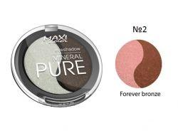 Тіні для повік Mineral Pure 3г тон 02 Бронзове чудо ТМ MAXI COLOR