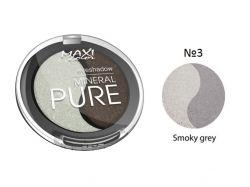 Тіні для повік Mineral Pure 3г тон 03 Спокуслива димка ТМ MAXI COLOR